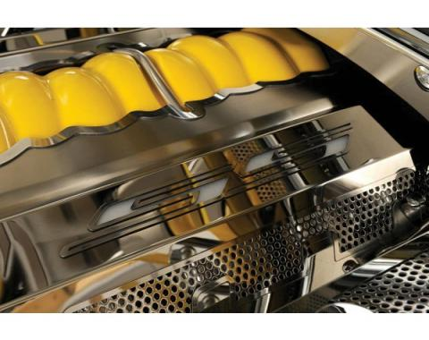 "American Car Craft, Fuel Rail Covers, LED Illuminated, Polished Stainless Steel, ""SS Style"", Perforated