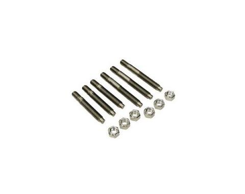Camaro Exhaust Manifold Stud Set, Small Or Big Block, Stainless Steel, 1967-1969