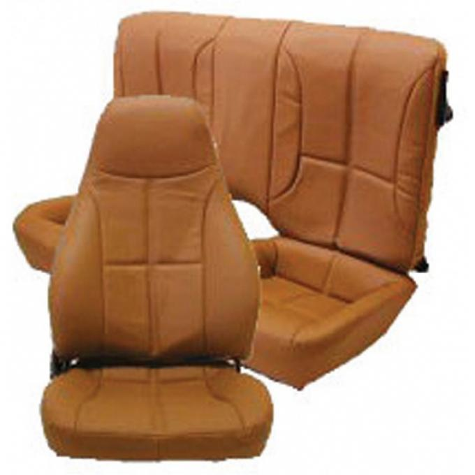 Camaro Seat Cover Set, Front & Rear, Vinyl, For Cars With Standard Interior & Front Bucket Seat & Rear Split Seat, 1987-1992