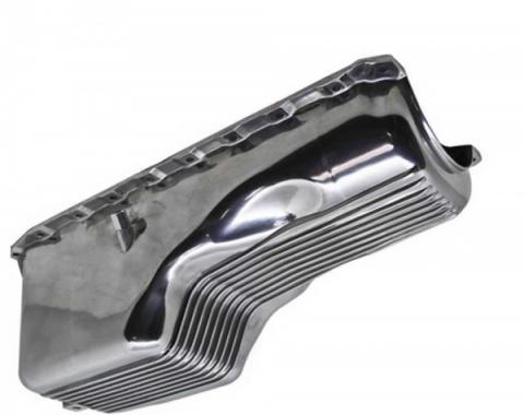 El Camino -Oil Pan, Big Block, Polished Finned Aluminum