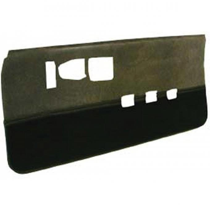 Camaro Door Panels, Unassembled, Velour, With Cut-Pile Carpet, Rally Sport (RS), IROC-Z & Z28, BLEM 1986-1992   Light Charcoal With Charcoal Carpet