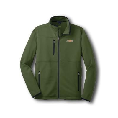 Chevy Jacket, Zippered Pique Fleece, Green