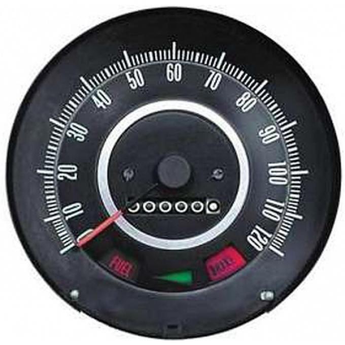 Firebird Speedometer, Standard Dash, Without Speed Warning,1967