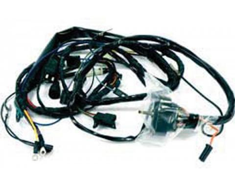 Firebird Engine Wiring Harness, V8, Without Catalytic Converter, Without A/C, 1975