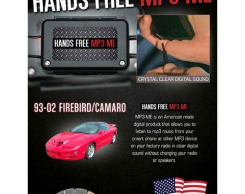 Firebird MP3 Hidden Hands Free Auxiliary Adapter, 1993-2002