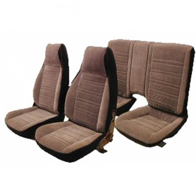 Camaro Seat Cover Set, Front & Rear, Velour, For Cars With Standard Interior & Split Rear Seat, 1987-1992