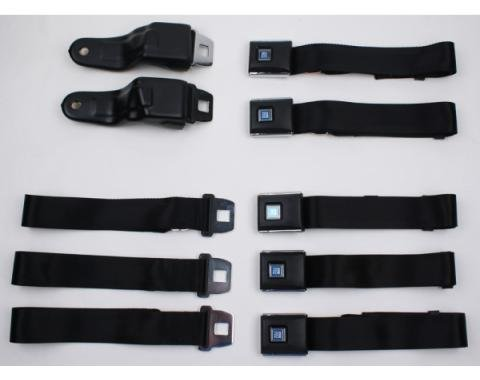 Camaro Seat Belt Set, Replacement Style, Front & Rear, 1967-1969