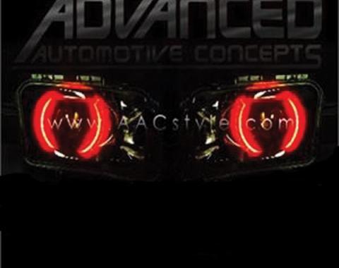 Camaro Headlight Halo Kit, CCFL, 2010-2013