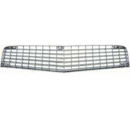 Camaro Berlinetta Upper Grille, Silver With Chrome Accents, 1980-1981