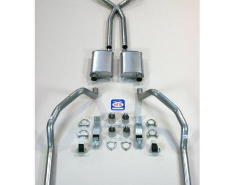 """Camaro SCR X-hilarator True Dual Exhaust System For Small Block With Headers, With X-pipe, 2-1/2"""", 1967-1969"""