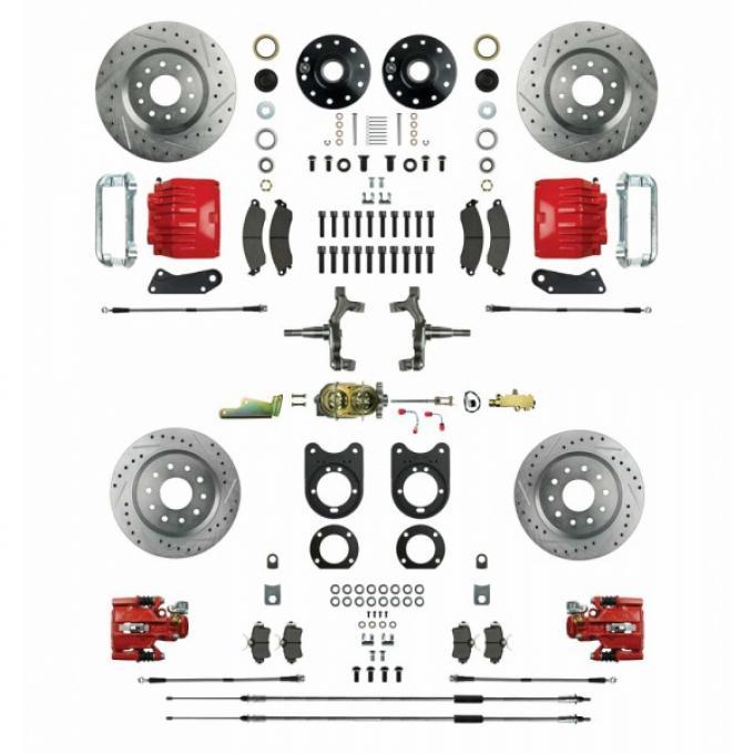 Nova - Signature Series Big Brake Four Wheel Disc Conversion, Drop Spindles, Manual Brakes, 1968-1974