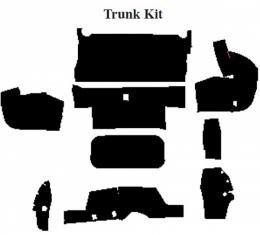 Camaro Insulation, QuietRide, AcoustiShield, Trunk Floor Kit, Convertible, 1987-1992
