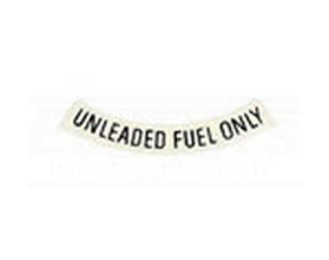 Camaro Unleaded Gasoline Only Decal, Curved, 1975-1981