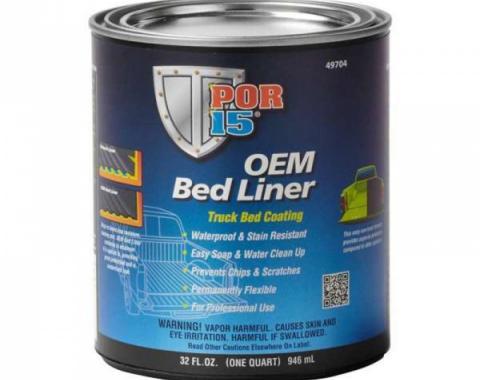 POR-15® OEM Bedliner Truck Bed Coating, Black, Quart