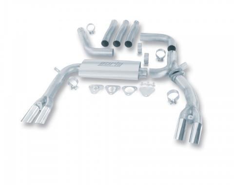 Firebird Exhaust System, 3'' Cat Back Adjustable, Borla, V8, 1984-1992
