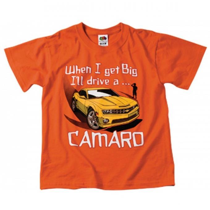 "Camaro Children's T-Shirt, ""When I Get Big I'll Drive A Camaro"", Orange"