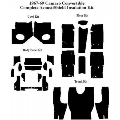 Camaro Insulation, QuietRide, AcoustiShield, Complete Kit, Convertible, 1967-1969