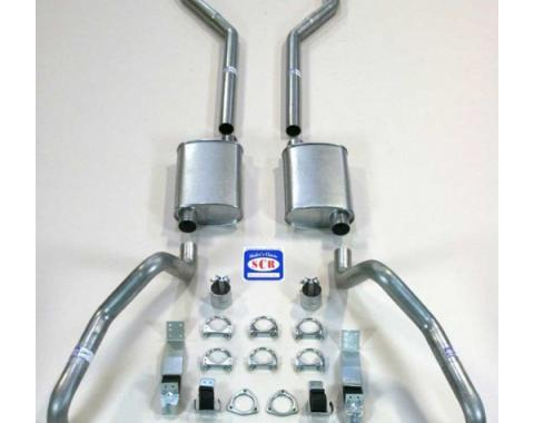 "Camaro SCR Performance Dual Exhaust System, For Small Block With Headers, 2-1/2"", 1967-1969"