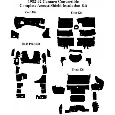 Camaro Insulation, QuietRide, AcoustiShield, Complete Kit, Convertible, 1987-1992