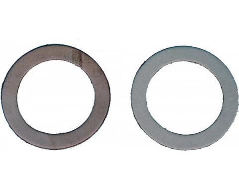 Camaro Steering Spindle To Brake Backing Plate Seals, Leather, 1967-1969