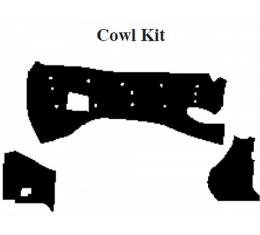 Camaro Insulation, QuietRide, AcoustiShield, Cowl Kit, Coupe, 1993-2002