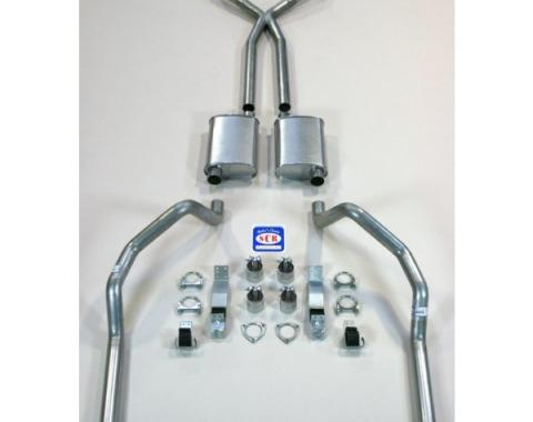 """Camaro SCR X-hilarator True Dual Exhaust System For Big Block With Headers, With X-pipe, 2-1/2"""", 1967-1969"""