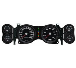 Gen ll Camaro - New Vintage USA Performance ll Series, 6 Gauge Package, Black Dial, 240 KPH 1970-1978