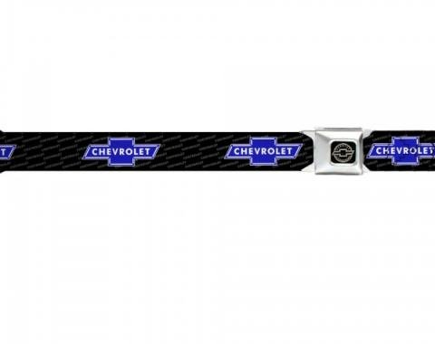 Seat Belt Belts, Chevy Bowtie Blue, Chevrolet Script On Belt