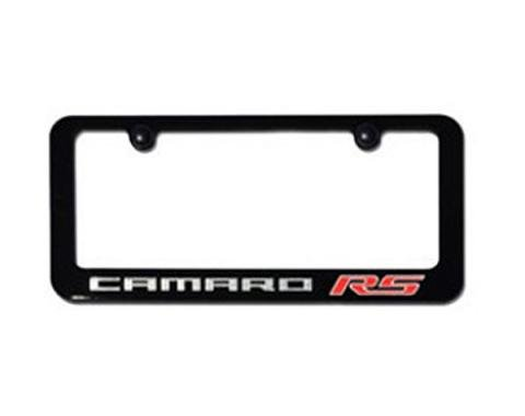 Camaro License Plate Frame,Elite Series, RS, Painted Factory Colors, Engraved,2010-2014