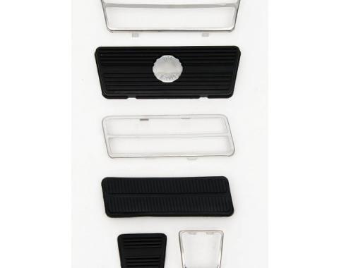 Camaro Pedal Pad Kit, Gas, Brake & Parking Brake, For Cars With Disc Brakes, 1972-1981