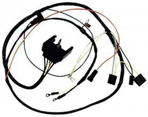 Camaro Engine Wiring Harness, All V8, For Cars With Gauges,1968
