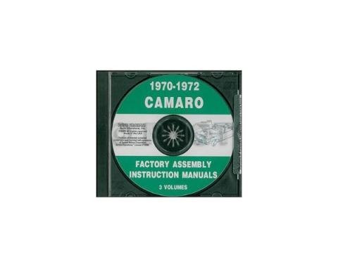 Camaro Factory Assembly Manual, PDF CD-ROM, 1970-1972