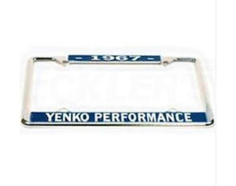 Yenko Performace License Frame, 1967