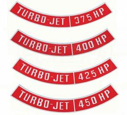 Camaro Air Cleaner Emblem, Turbo Jet, 1967-1984
