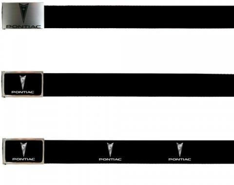 Firebird Web Belts, Up to 46'' Waist Without Bottle Opener, Pontiac Logo