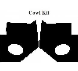 Camaro Insulation, QuietRide, AcoustiShield, Cowl Kit, Convertible, 1967-1969