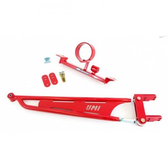 UMI Performance Short Torque Arm, Adj, Straight, DS Loop- Black   | 2210-B Camaro 1993-02