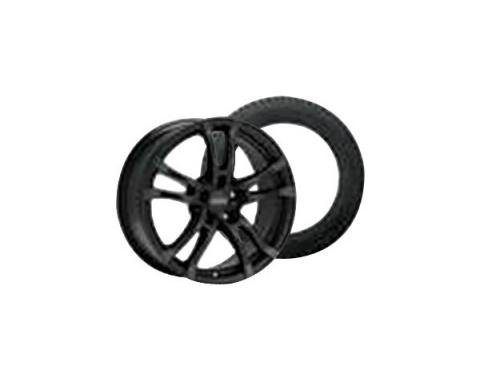Camaro Anzio Turn Black Wheel Rim and Goodyear Eagle Ultra Grip GW-3 Tire Kit, 2010-2015