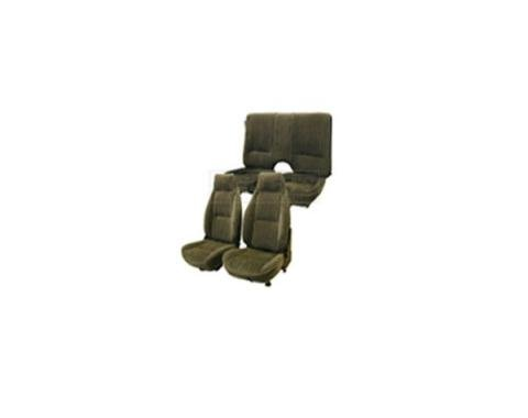 Camaro Front & Rear Seat Sets, Solid Rear, Encore Velour, 1982-1985