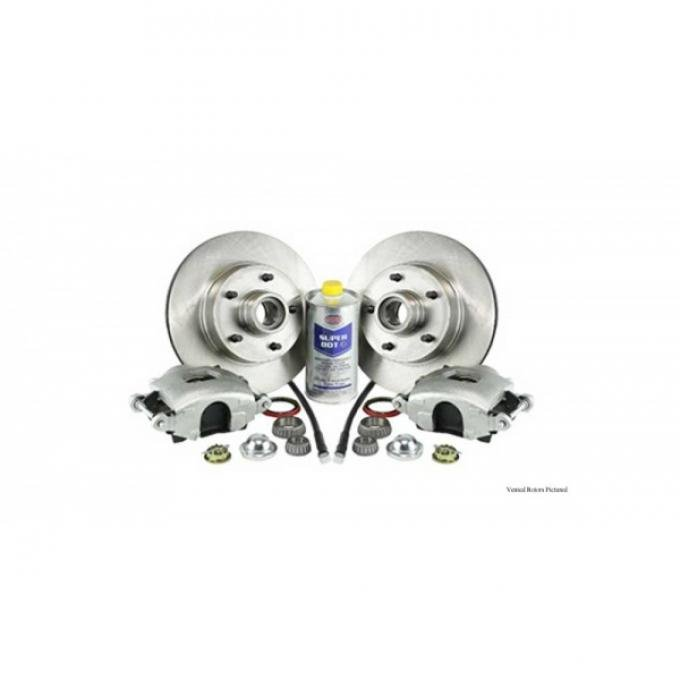 Legend Series Front Disc Brake Refresh Kit, Drilled And Slotted Rotors, 1967-1969