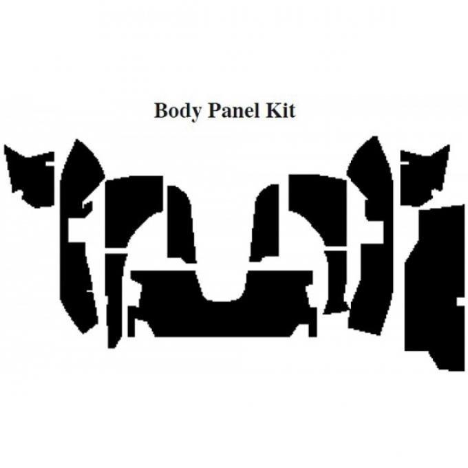 Camaro Insulation, QuietRide, AcoustiShield, Body Panel Kit, Convertible, 1994-2002