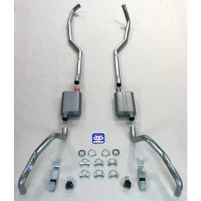 "Camaro SCR Performance Dual Exhaust System, For Big Block With Manifolds, 2-1/2"", 1967-1969"