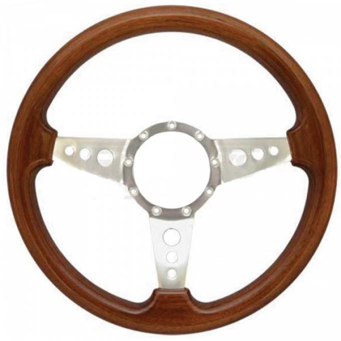Camaro Steering Wheel, Volante S9, Walnut Wood Finish, 1967-2002