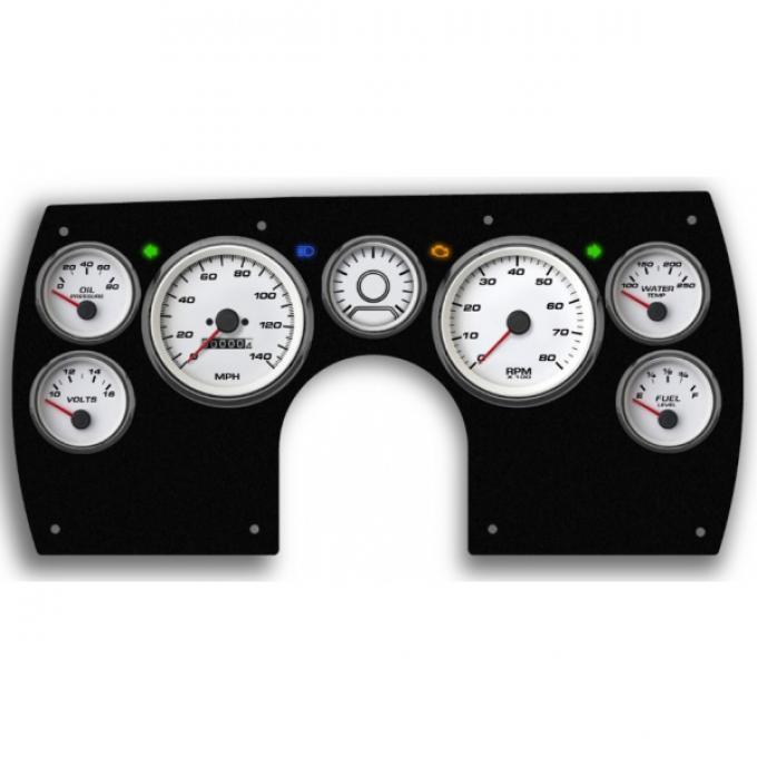 Gen lll Camaro - New Vintage USA Performance Series, 6 Gauge Package, White Dial, 1982-1989 - Programmable Speedometer