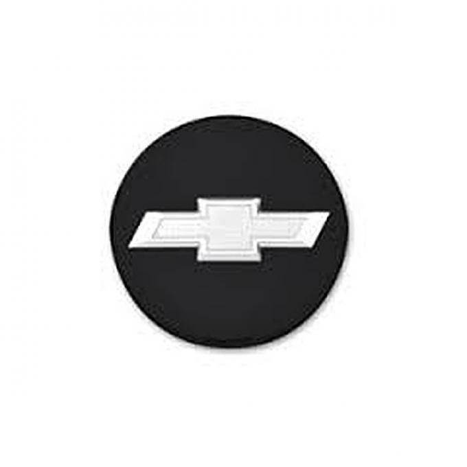 Camaro Center Cap, Black With Silver Bowtie Logo, 2010-2014