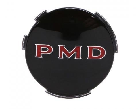 Trim Parts Wheel Cover Emblem, 2 7/16 Diameter, Black, Each 8200