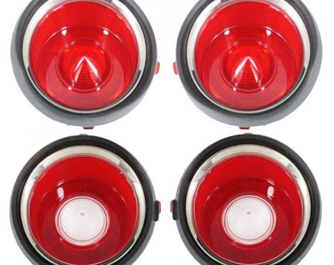 Trim Parts 70-71 Early Camaro Tail Light Lens Set without RS A6711S