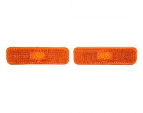 Trim Parts 74-77 Camaro Driver/Passenger Dark Amber Front Marker Light Assembly, Pair A6742