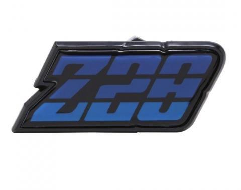 Trim Parts 80-81 Camaro Fuel Door Emblem, Z-28, Blue, Each 6952