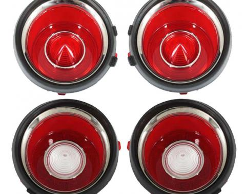 Trim Parts 70-71 Early Camaro Tail Light Lens Set with RS A6708S